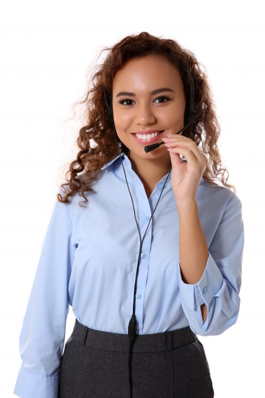 Female technical support call